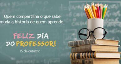 Dia de Professor – Parabéns e Obrigado!